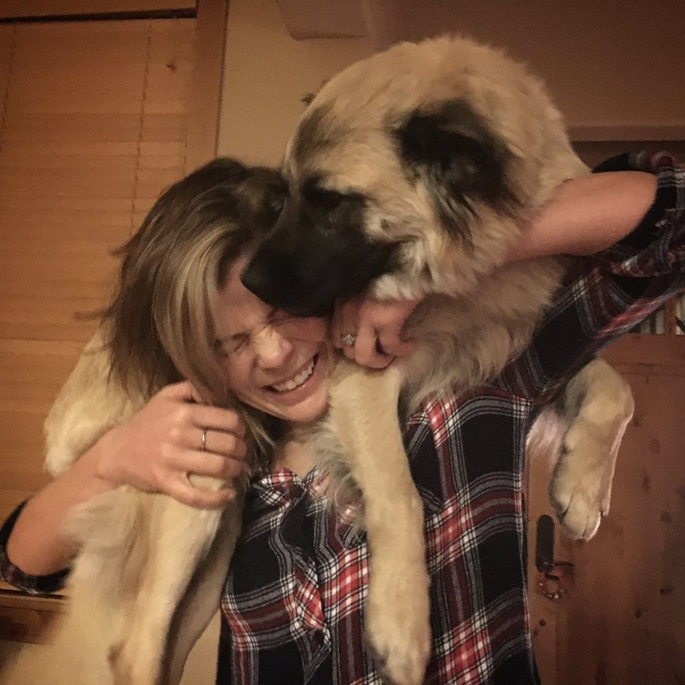 Finn and I practicing our Sky Patrol Dog carry, it was going really well until she decided to start licking my face.  I am still pulling blond feathered fur out of my mouth too btw Finn, thanks for that.  Ah, well that's family for you.