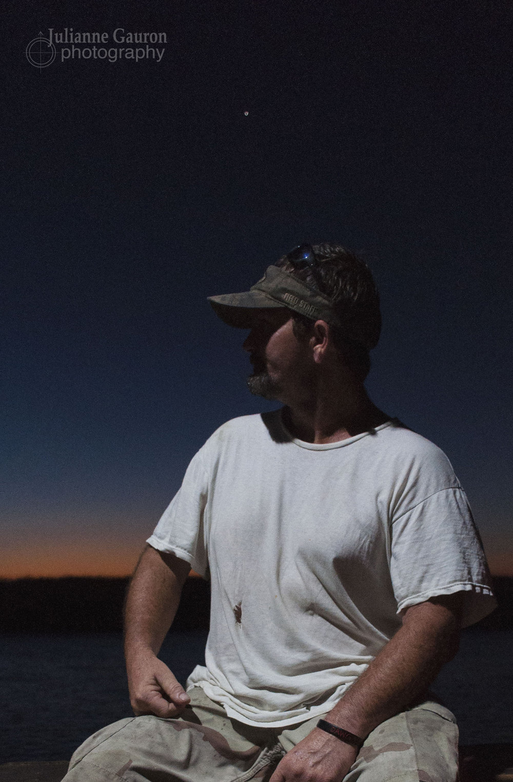 Arty and I met in full darkness on the dock, and as the sun came up he told me he had just gotten out of jail, and of the deep love he has for his daughter and the jobs he works to raise her as a single parent.