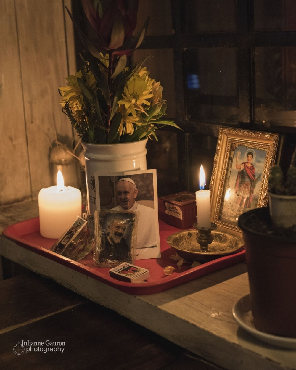 """The altar to """"El Papa"""" in the hotel bar, with no irony or contradiction. Traditions, late night partying, moneyed guests, staff and dirtbag skiers all mix easily."""