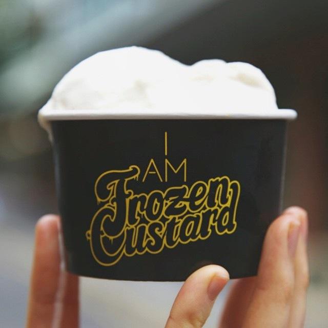 Frozen Custard logo for Burger Theory