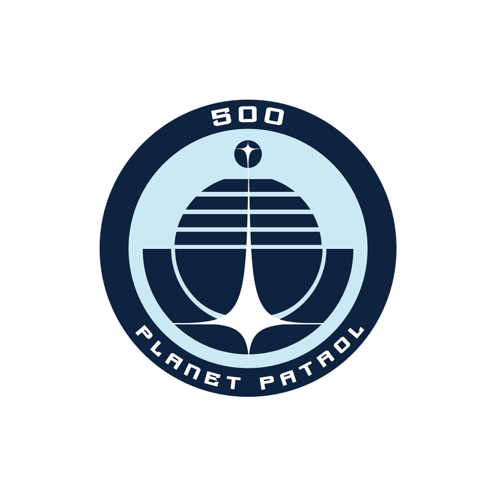 500 Planet Patrol logo for Pale Blue Dot (2013) film