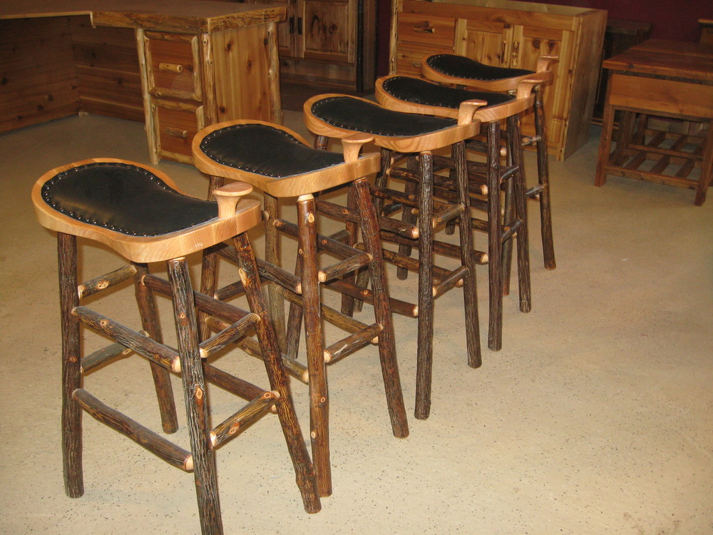 Rustic restaurant bar stools — furniture