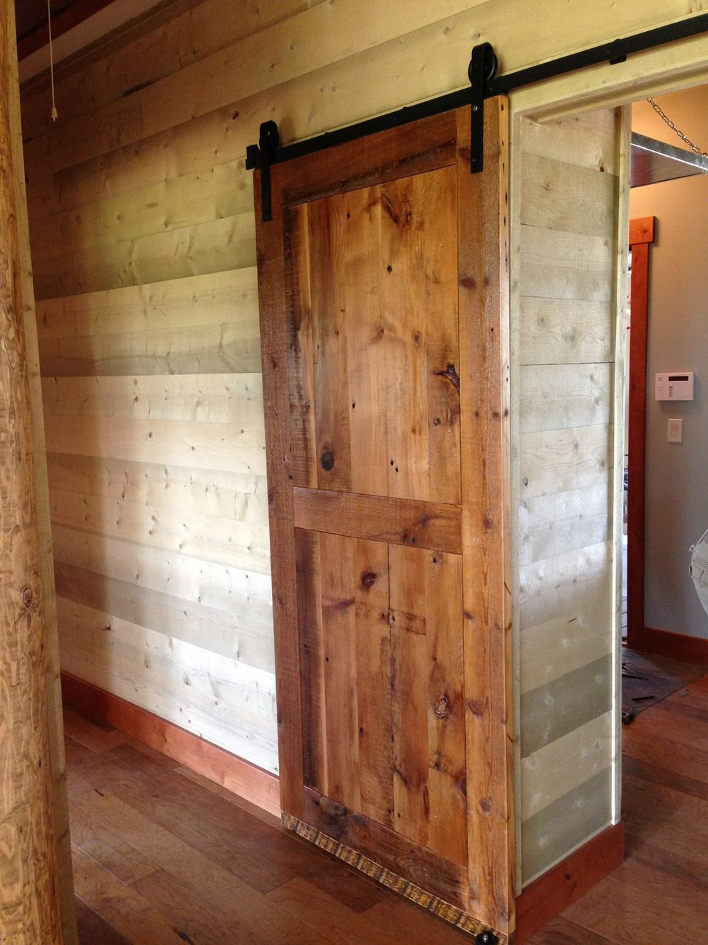 Attractive Barnwood Sliding Door