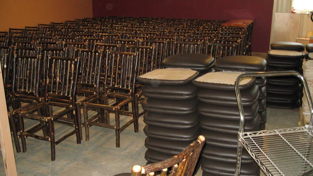 Rustic restaurant furniture —