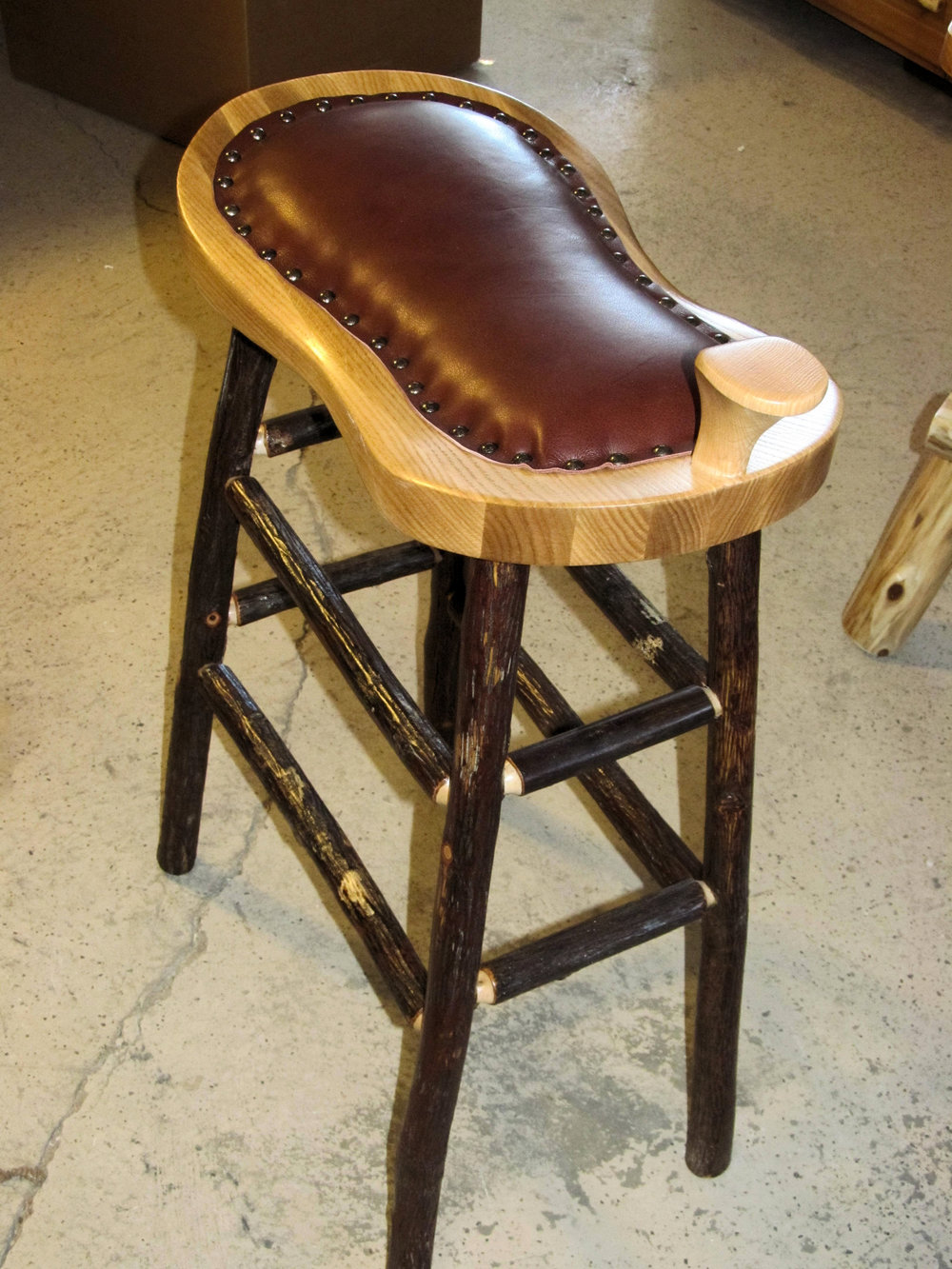 rusticraft hickory saddle stool.jpg