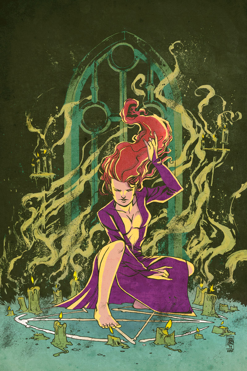 IN THE DARK promo image drawn by Mike Henderson. Colored by me.