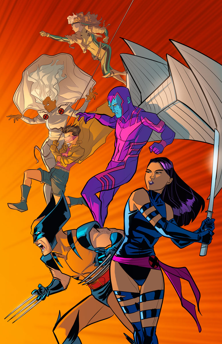 90's X-men. Line art by Joe Eisma (MORNING GLORIES). Coloring by K. Michael Russell