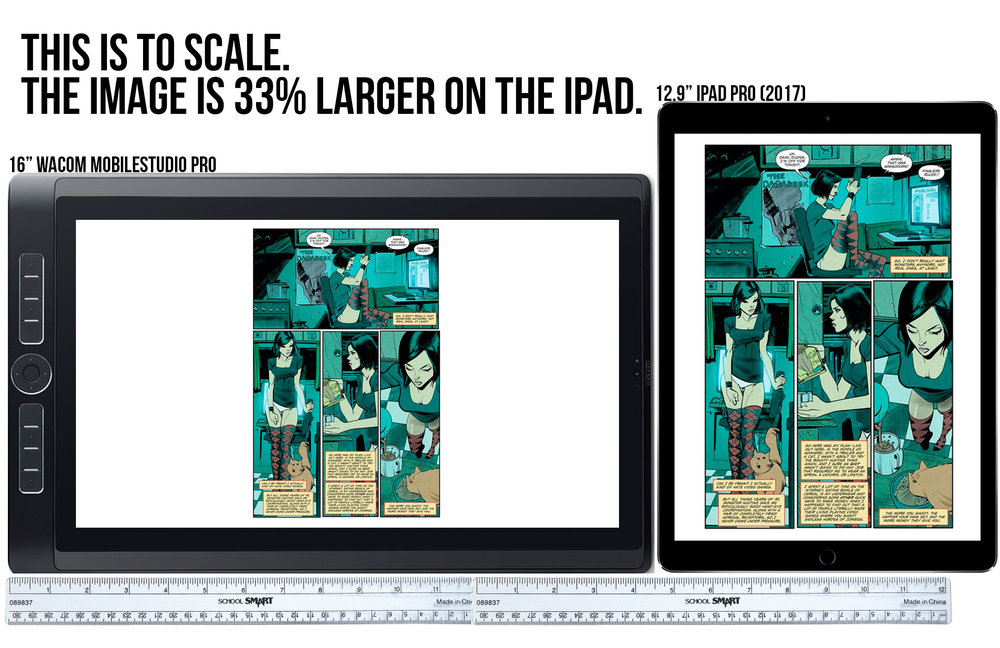 "iPad Pro 12.9"" (2017) vs Wacom MobileStudio Pro 16"""