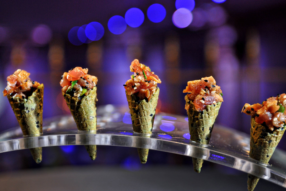 Tuna Tartare in Sesame Mini-Cones
