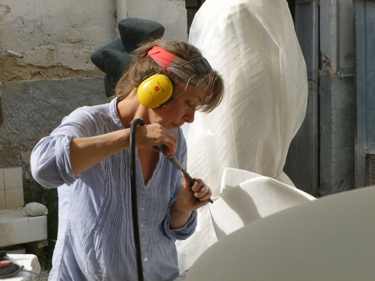 Inger Sannes is showing her recent marble and bronze sculpture, together with sculptors Elena Mutinelli and Carla Marchelli of Italy and Majd Patou Fathallah of England/Lebanon, in the 12th edition of the exhibition  Donna Scultura  in St Agostino, Pietrasanta, Lucca Region, Italy.   The show runs until March 16th 2014.