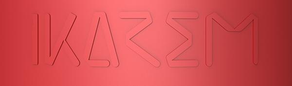 IKAREM red logo emboss