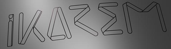 IKAREM black line logo etch