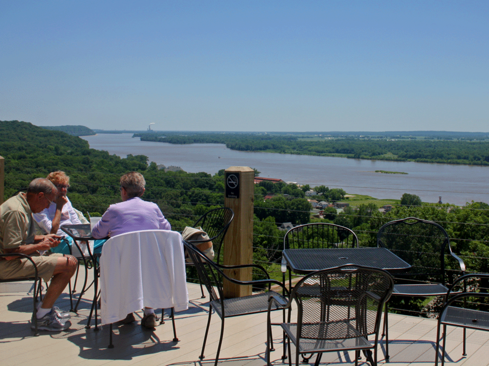 The Mighty Mississippi from the winery deck