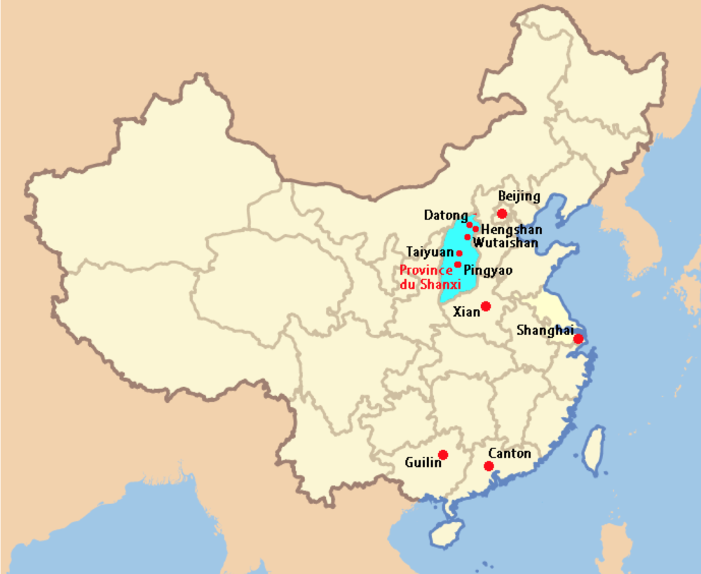 Shanxi China Map.Shanxi Province Anhalysis
