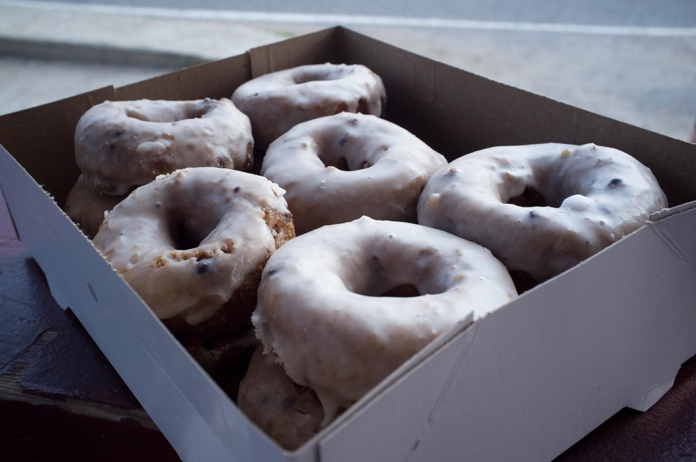 Hand glazed donuts.  Photo by GH.
