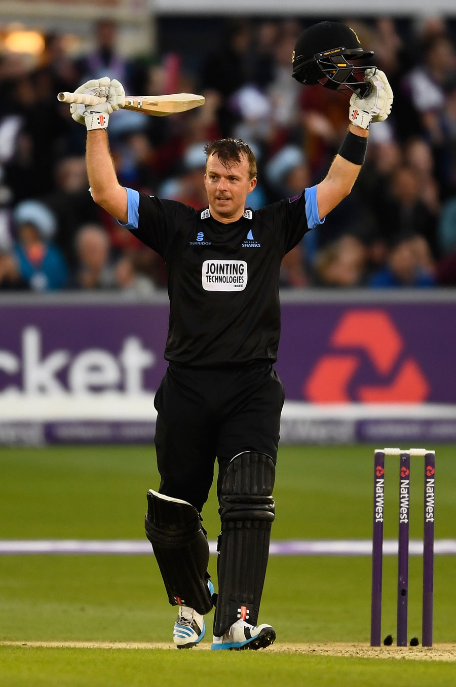 Chris Nash making his debut T20 Century against Somerset at Hove last season