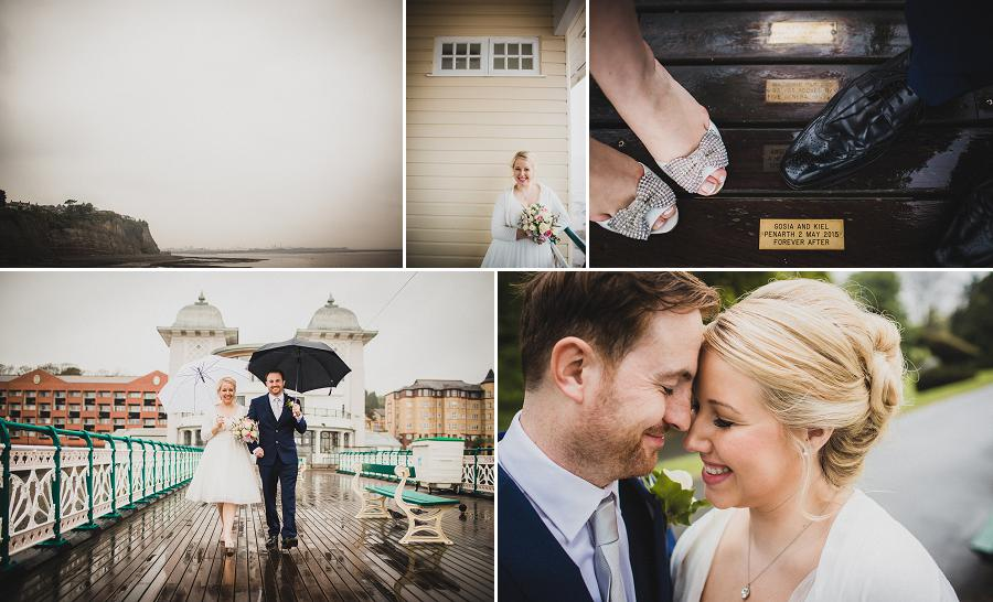 penarth pier wedding photos