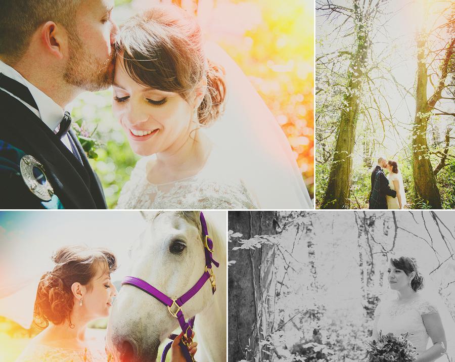 sun flare wedding photos