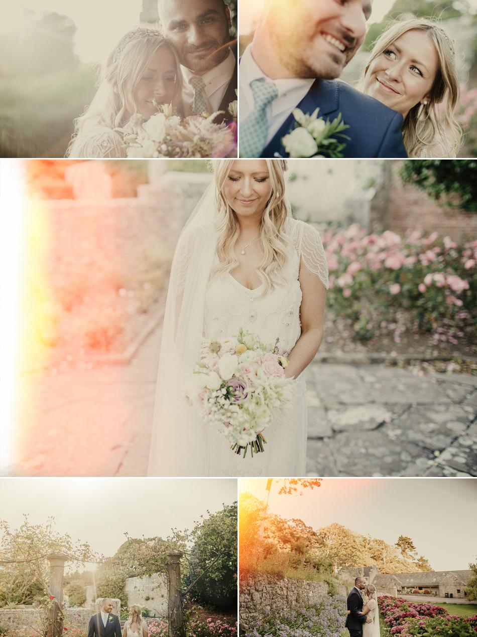lens flare wedding photos