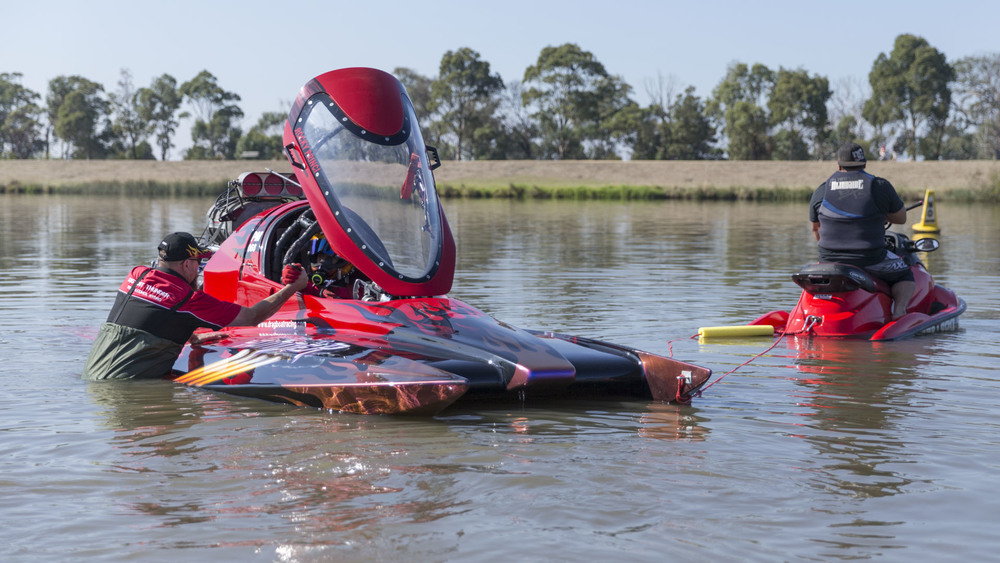 Drag Boats: Carrum: National Water Sports Centre;  Craig Watson aboard Thunder Down Under