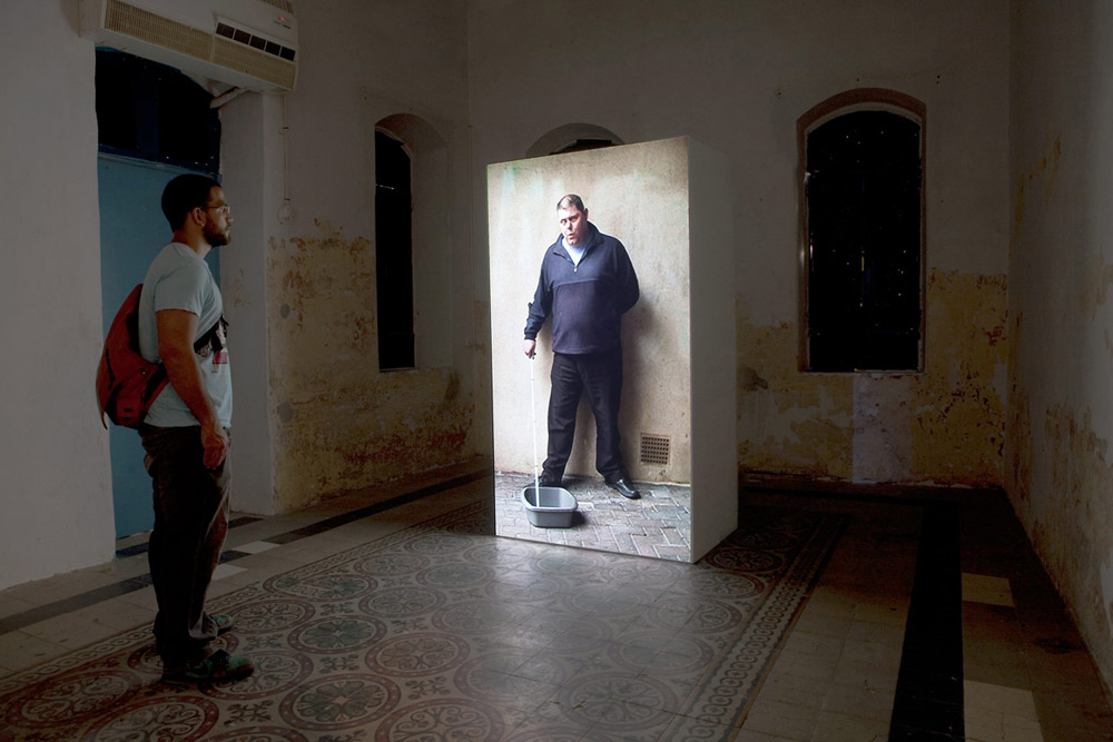 Documentation of 'Whistling Man',2010 at Musrara Mix Festival, Jerusalem