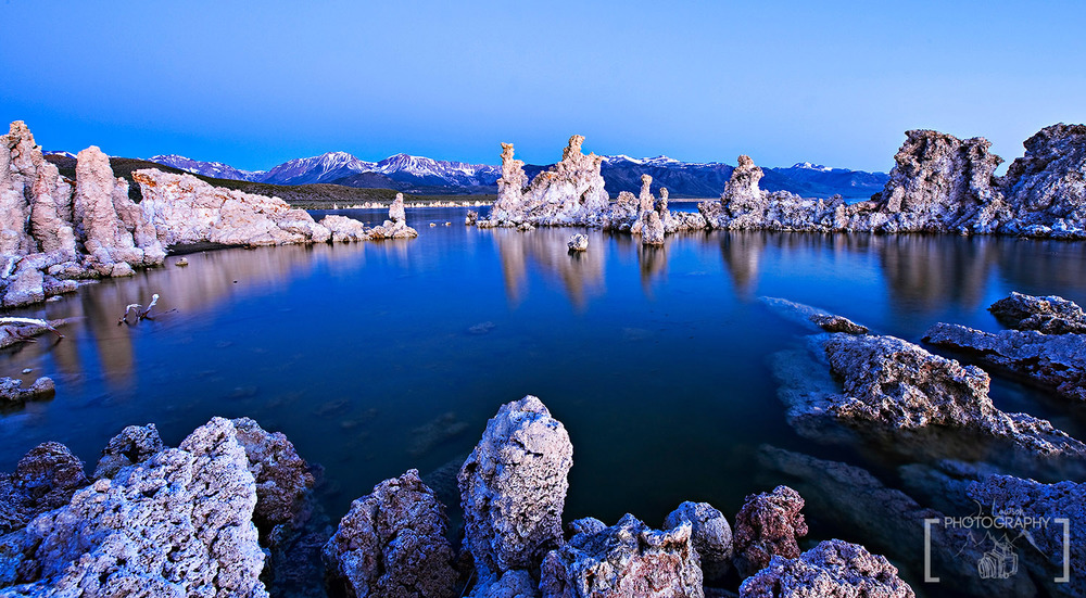 Mono Lake Blue Hour - the key to landscape photography is timing and lighting