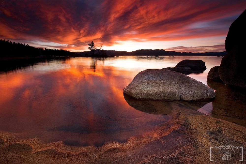 Lake Tahoe Sunset, California. Photo Credit: Jared Lawson Photography
