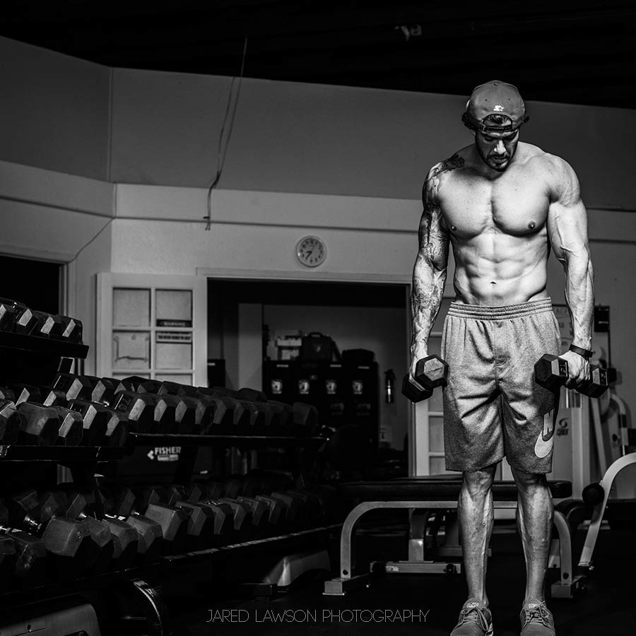Men's Physique Training Portrait San Jose