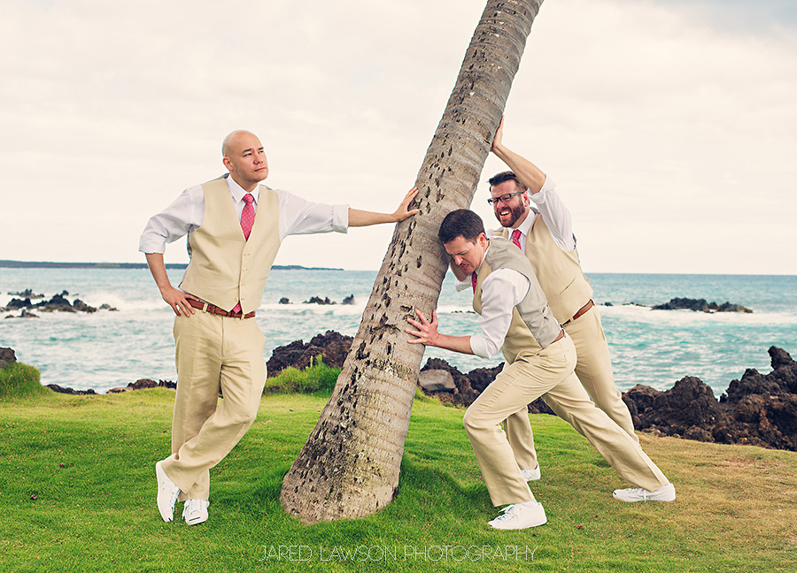 Maui Wedding Pictures Groomsmen Funny