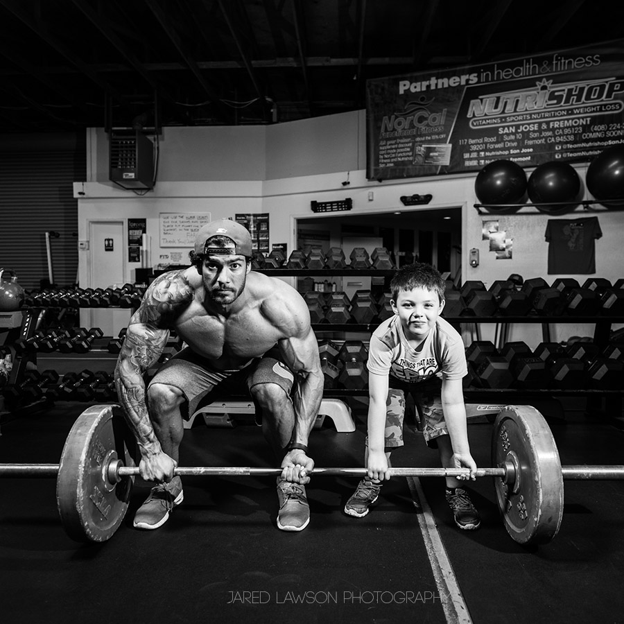 Teaching Weightlifting Form Black and White Photography
