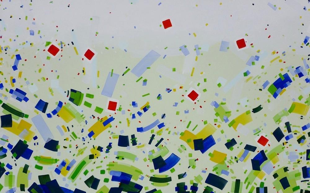 Jurgen Tarrasch, From the series Relieve, 2011-2012,50x80in, own tech. on cavas..JPG