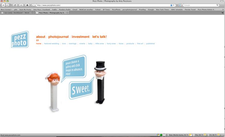 screenshot of the new pezzphoto.com
