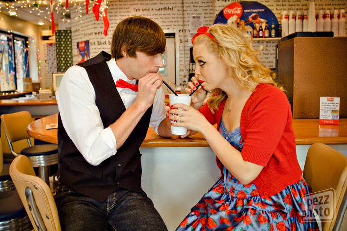 WIWO: Brooke and Wesley's 50's style engagement session
