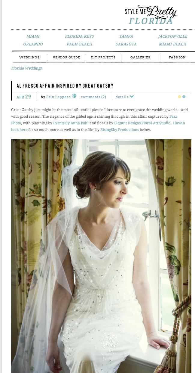 Stephanie & Jeffrey's Wedding Featured on Style Me Pretty