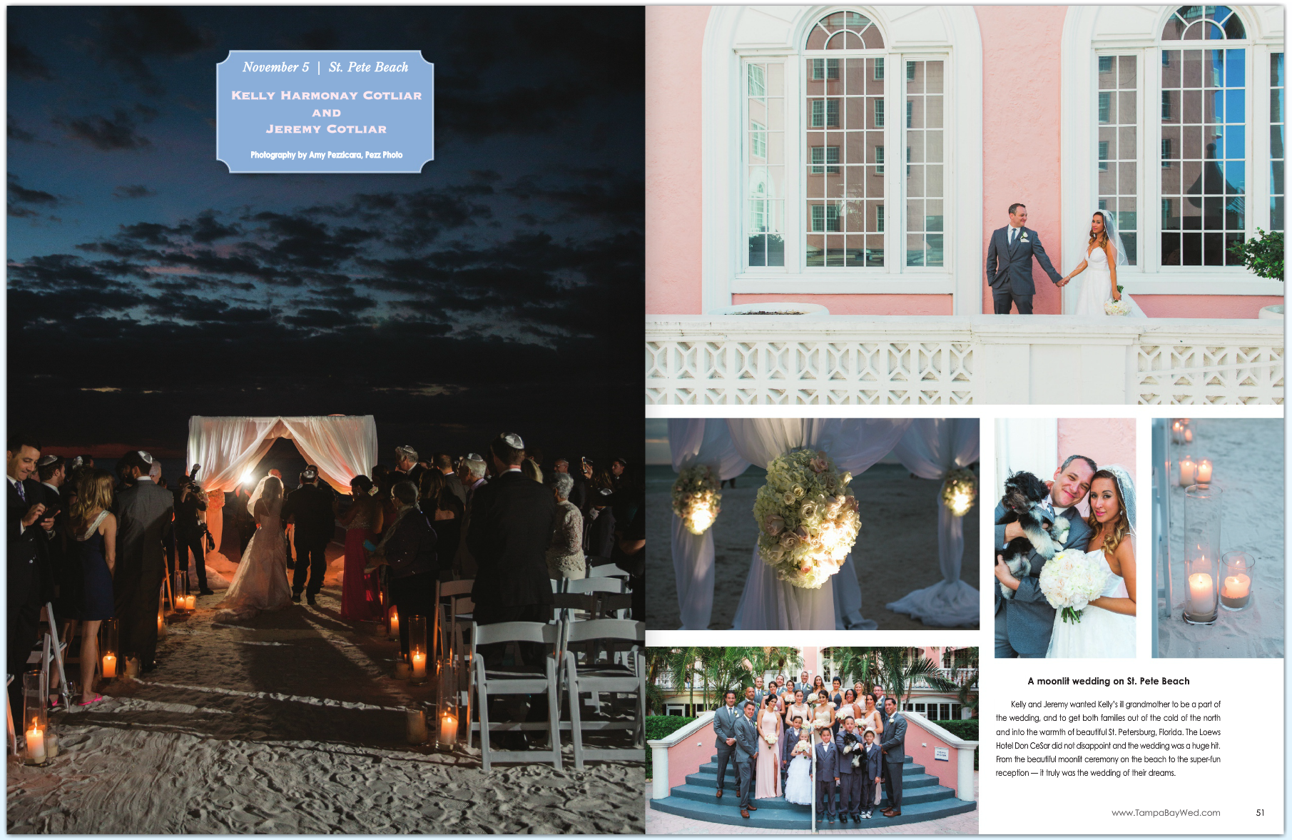 Tampa Bay Weddings Magazine_ Loews Don CeSar_Pezz Photo