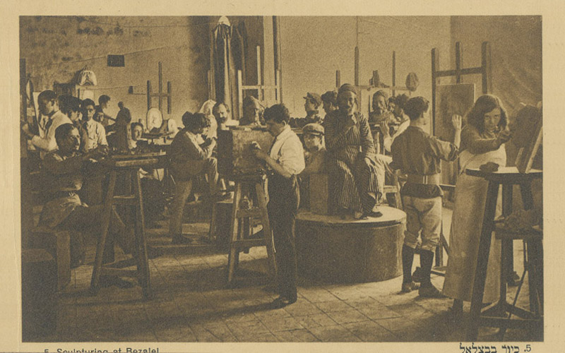 Boris Schatz and Students, Sculpture Class ca. 1914