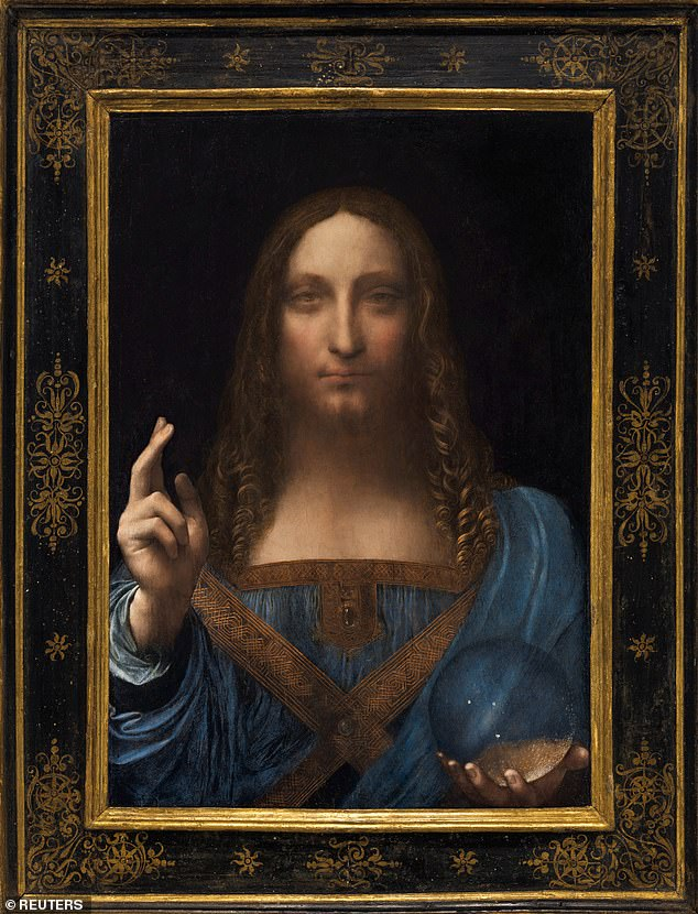The Salvator Mundi, an ethereal portrait of Jesus Christ which dates to about 1500