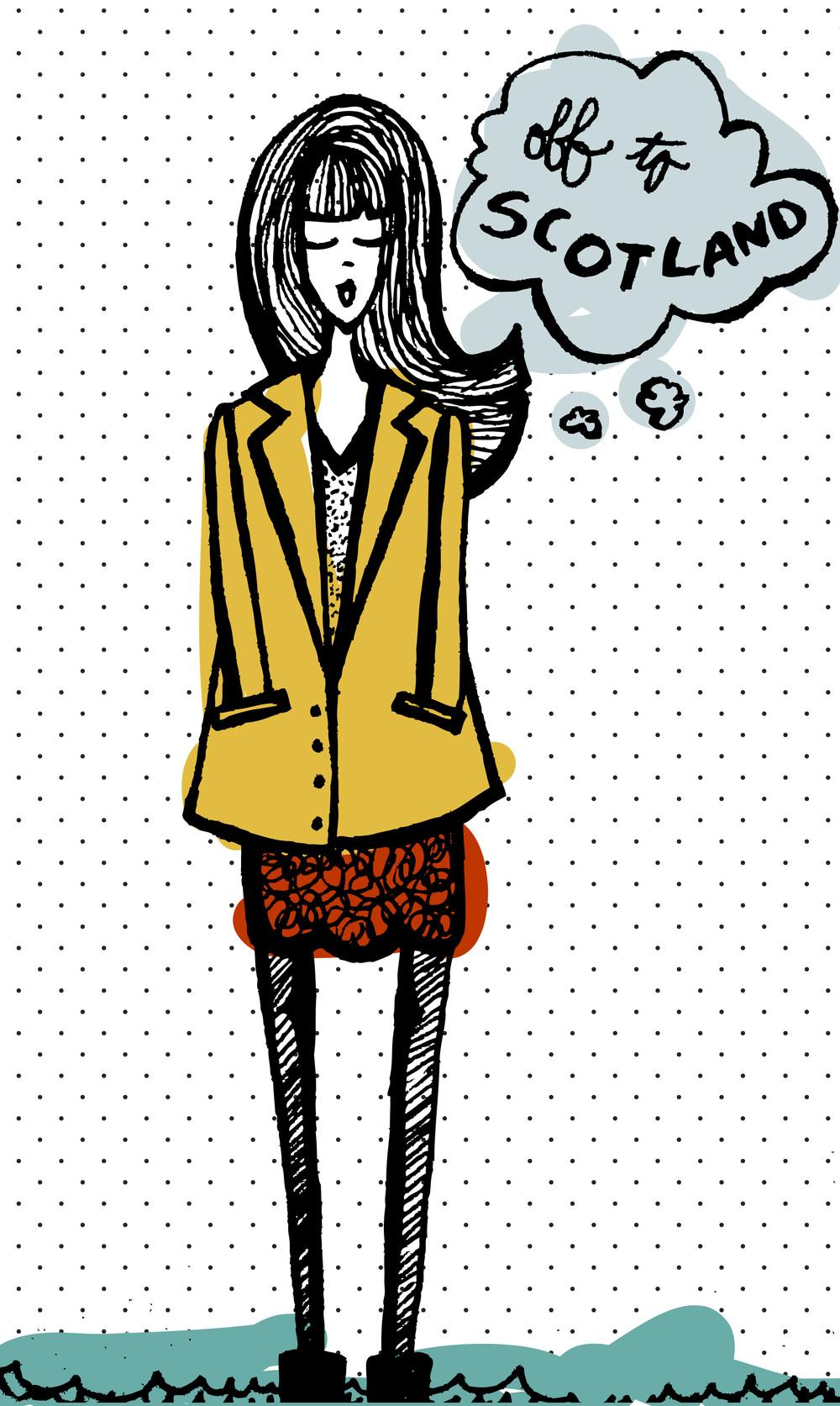 Illustration | Scanned Drawing + Illustrator