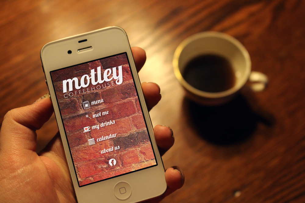 Motley Coffeehouse App | Photoshop + Illustrator