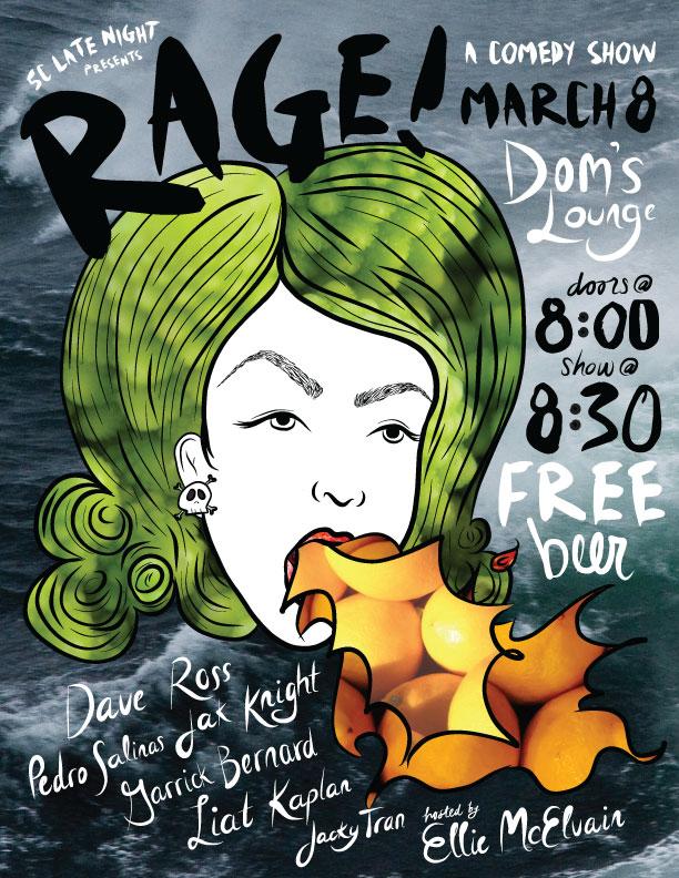 Comedy Show Poster | Adobe Ideas + Illustrator