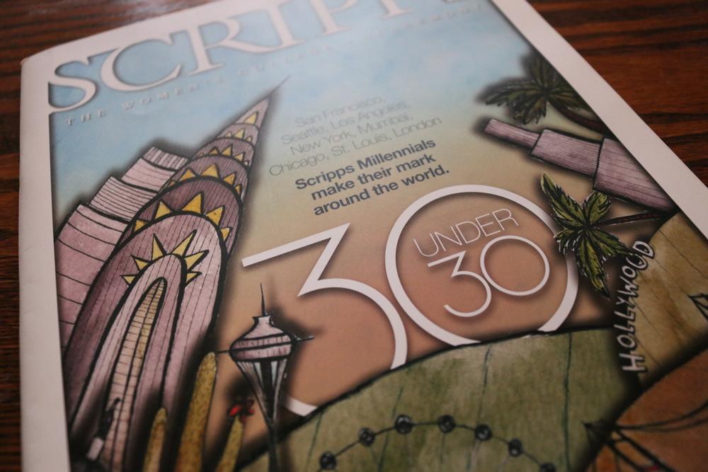 Scripps College Magazine | watercolor