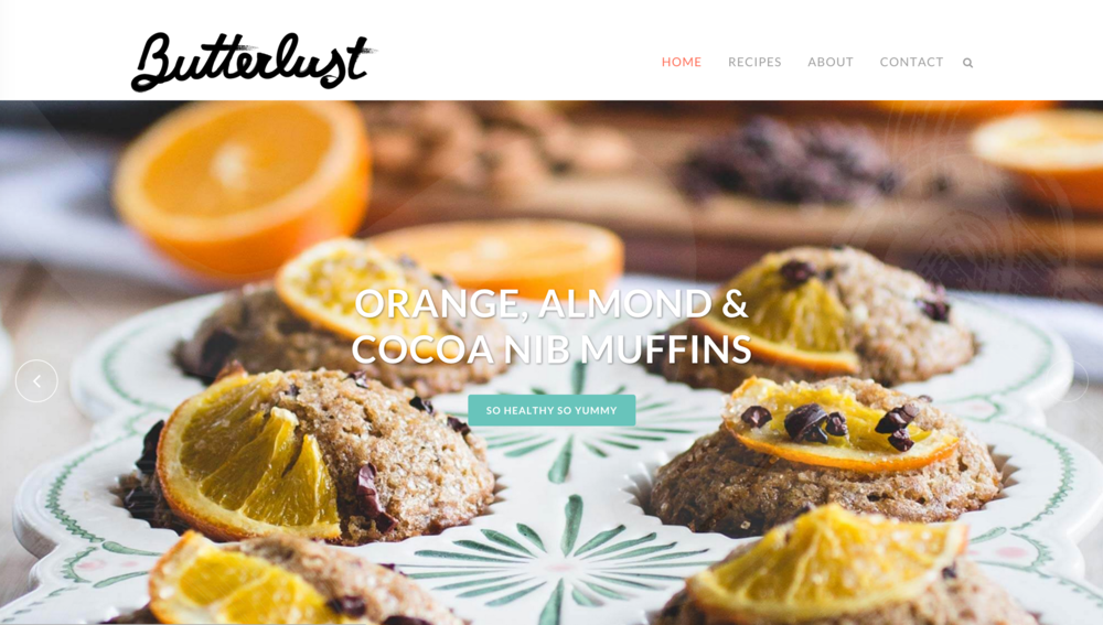 Butterlust Blog Branding & Redesign