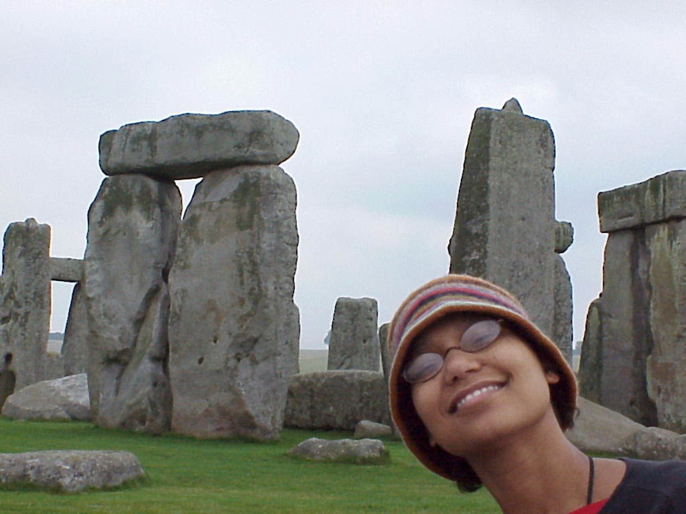 The lovely wife at Stonehenge