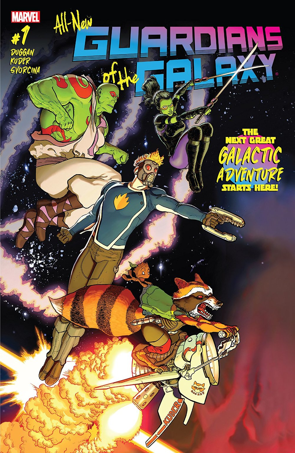 """Cover to """"All New Guardians of the Galaxy"""" #1"""