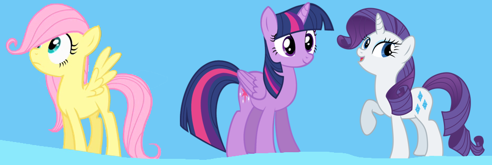 Fluttershy, Twilight Sparkle, and Rarity