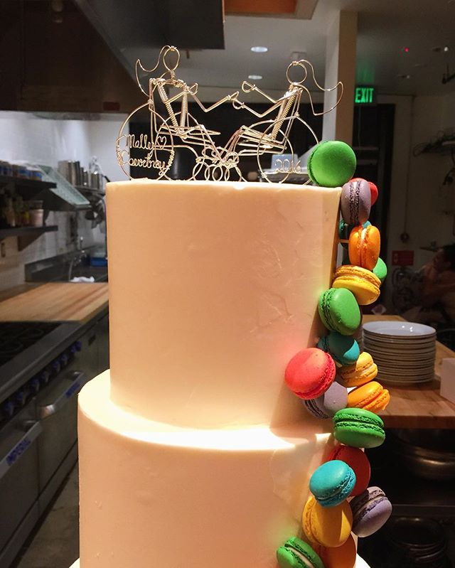 Can't wait to share more photos from tonight's #samesexwedding ! Amazing cake from @scootabaker !