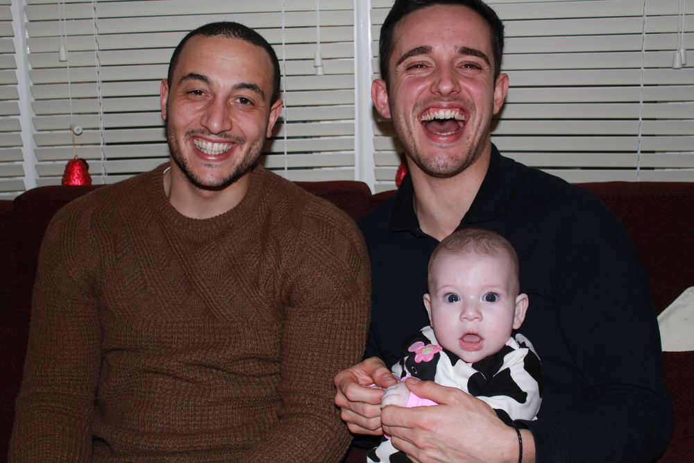 Craig, Danny and his daughter Lyla