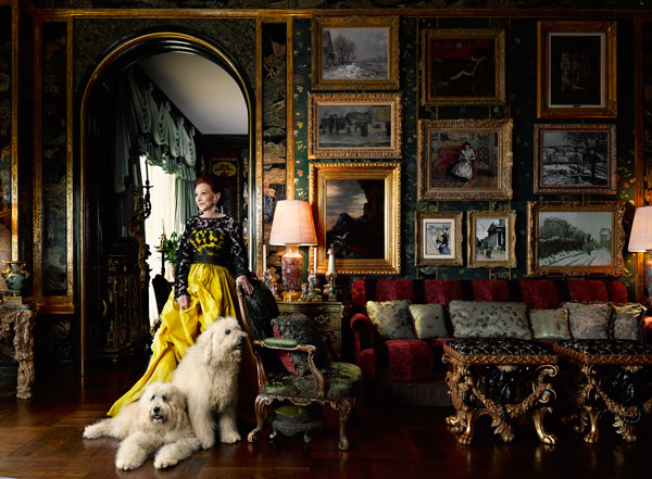 The ever fabulous Ann Getty for Harper's Bazaar