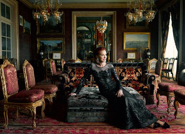 Ann at home in her San Fransico mansion for Harper's Bazaar
