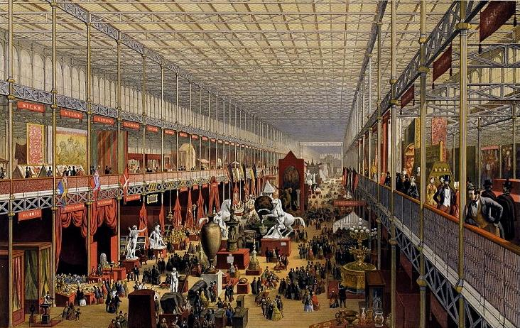An artists impression of the interior of the Crystal Palace